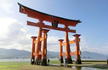 広島厳島神社大鳥居下部廻り補修工事